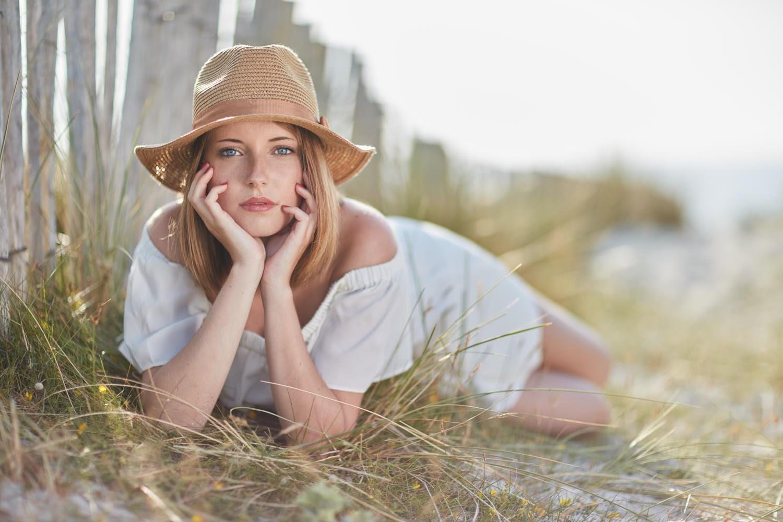seance photo plage et dunes avec Juliette
